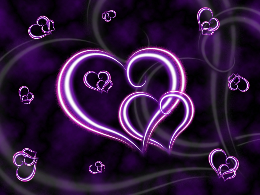 lovely pictures of love beautiful purple heart love