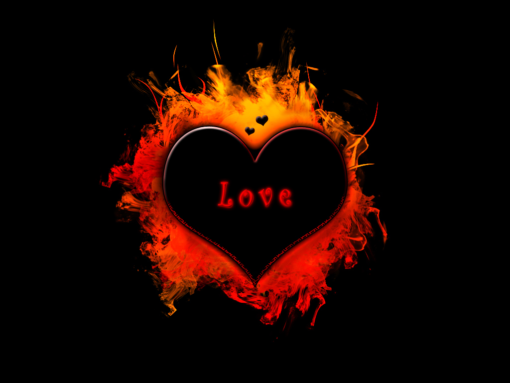 black love pictures fire heart