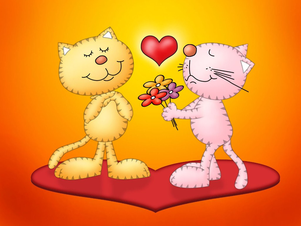 Wallpaper Of cute Love cartoon : Love cartoon Pictures for Desktop Wallpapers Love Pictures Gallery