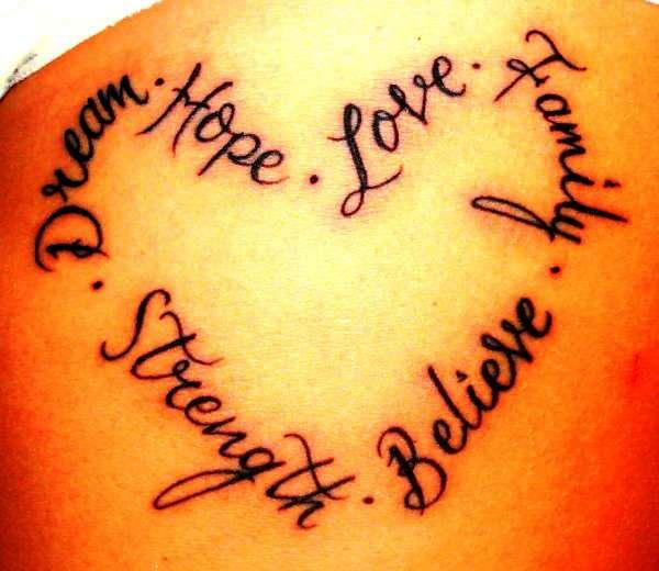 pictures of the word love tattoos quotes