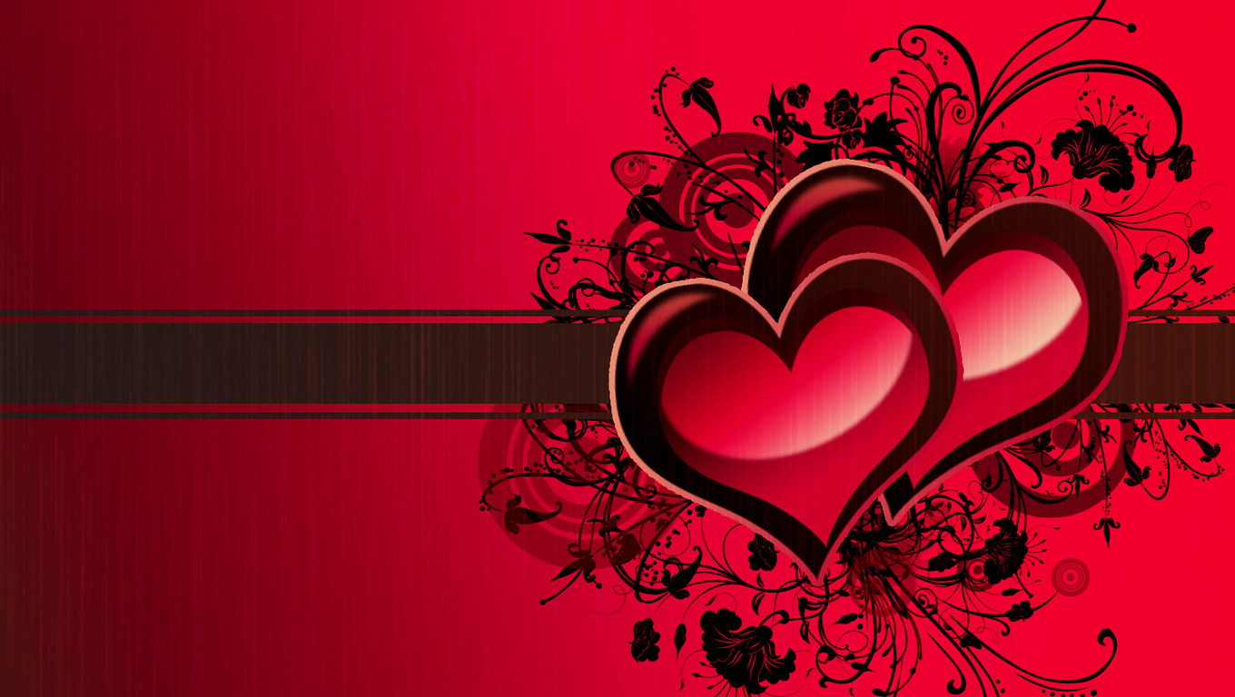 heart love red background - photo #9
