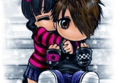Cute Emo Cartoon Love Pictures